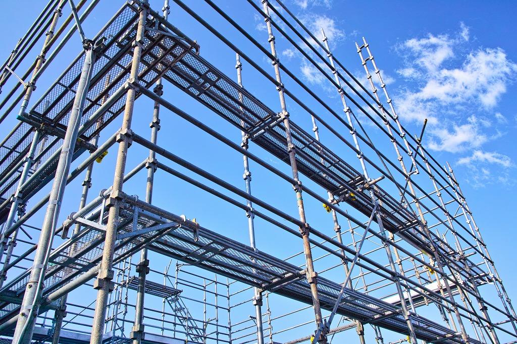 仮設足場工事や鉄骨工事に迅速対応します!